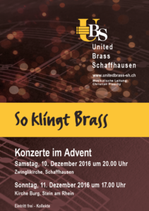 Konzert im Advent UBS