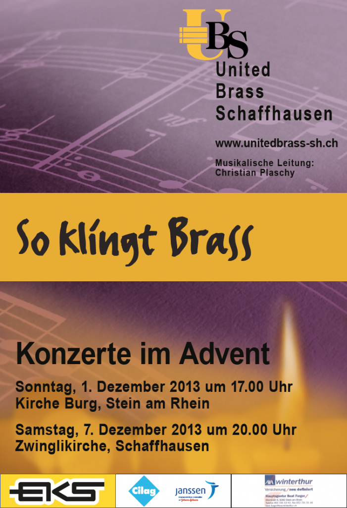 Plakat Konzerte im Advent